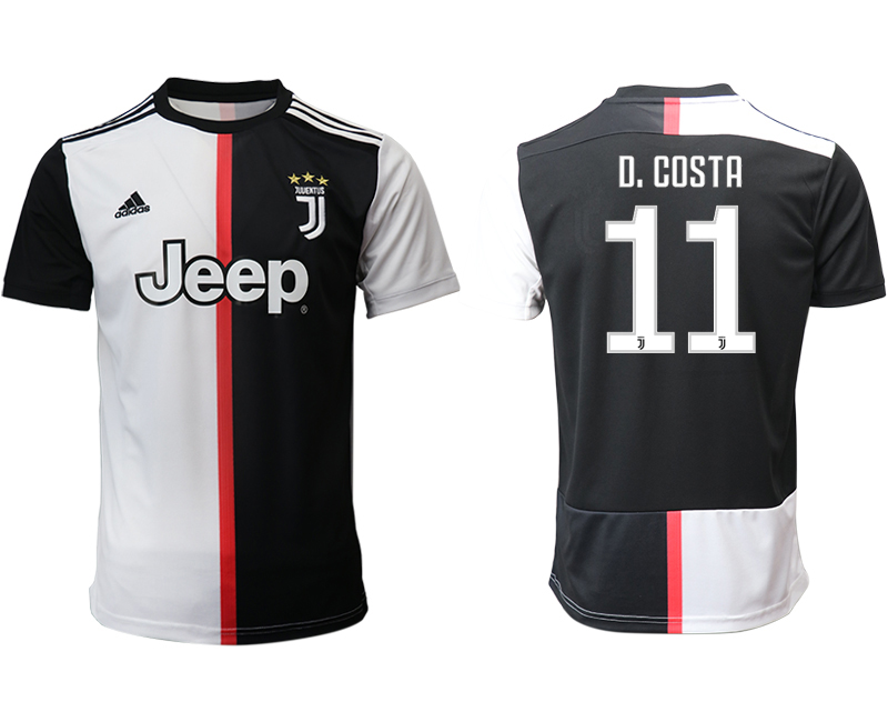 2019-20 Juventus 11 D. COSTA Home Thailand Soccer Jersey