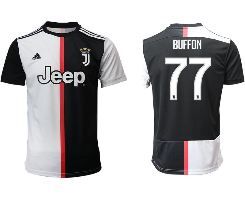 2019-20 Juventus 77 BUFFON Home Thailand Soccer Jersey