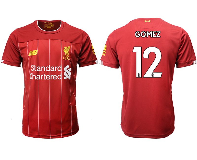 2019-20 Liverpool 12 GOMEZ Home Thailand Soccer Jersey
