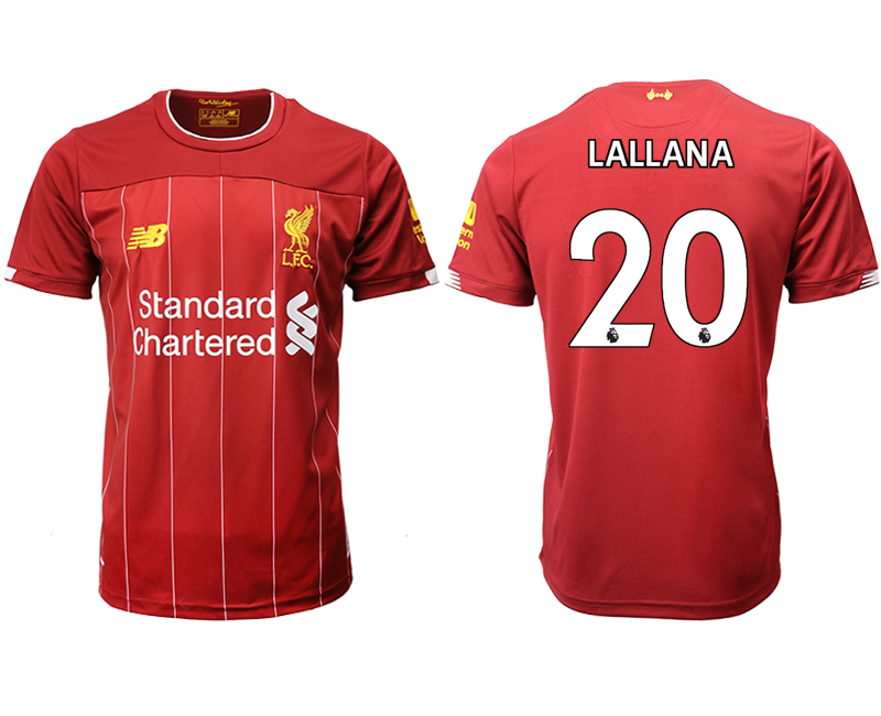 2019-20 Liverpool 20 LALLANA Home Thailand Soccer Jersey