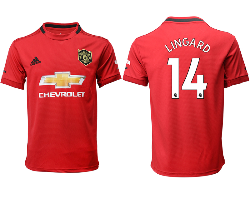 2019-20 Manchester United 14 LINGARD Home Thailand Soccer Jersey