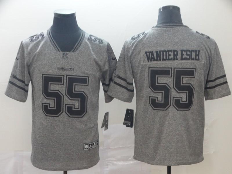 Nike Cowboys 55 Leighton Vander Esch Gray Gridiron Gray Vapor Untouchable Limited Jersey