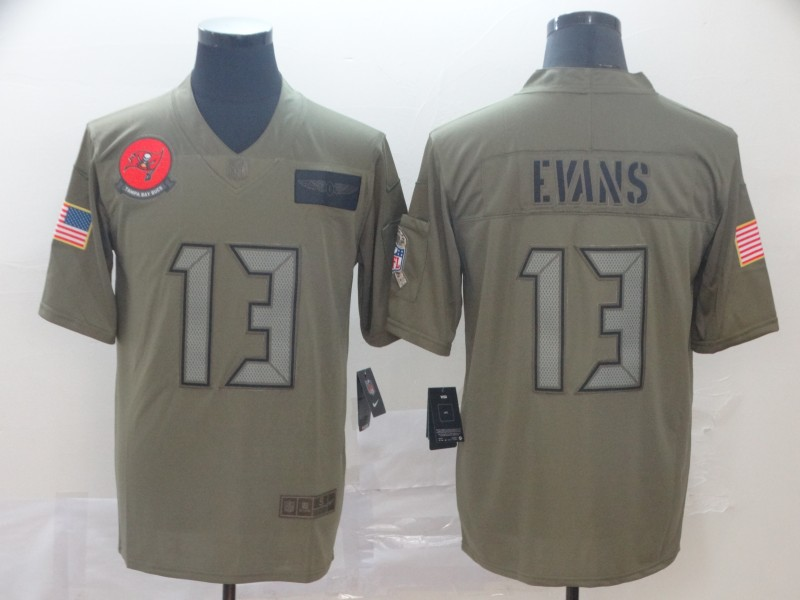 Nike Buccaneers 13 Mike Evans 2019 Olive Salute To Service Limited Jersey
