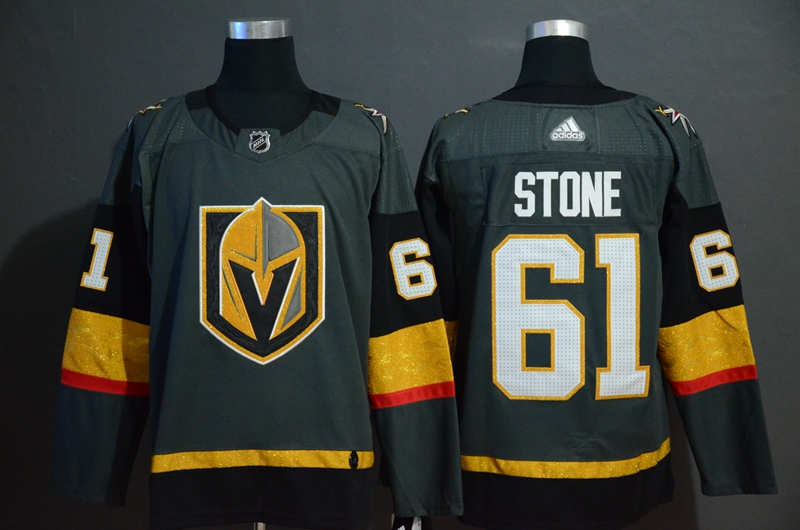Vegas Golden Knights 61 Mark Stone Gray With Special Glittery Logo Adidas Jersey