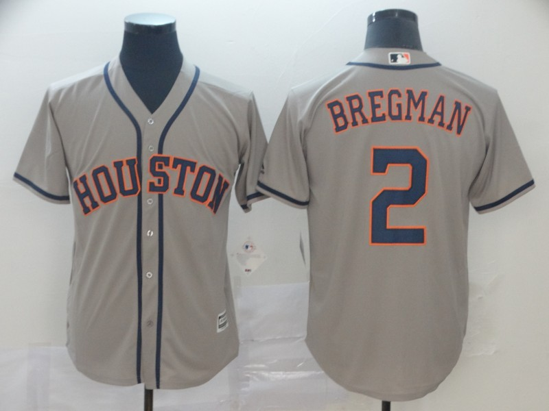 Astros 2 Alex Bregman Gray Cool Base Jersey