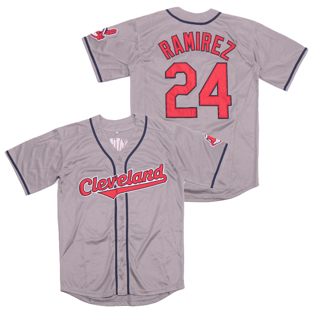 Indians 24 Manny Ramirez Gray Turn Back The Clock Jersey