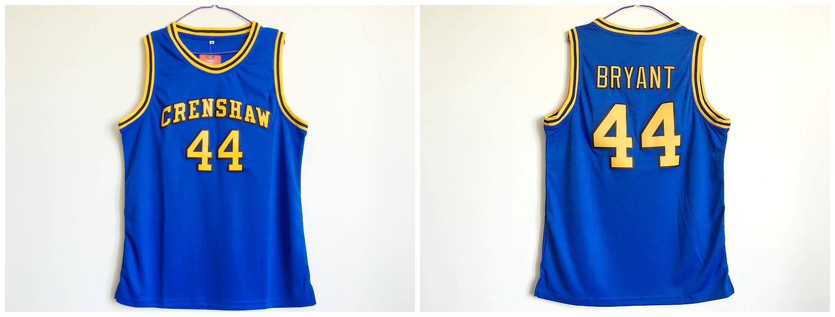 Crenshaw High School 44 Kobe Bryant Blue Basketball Jersey