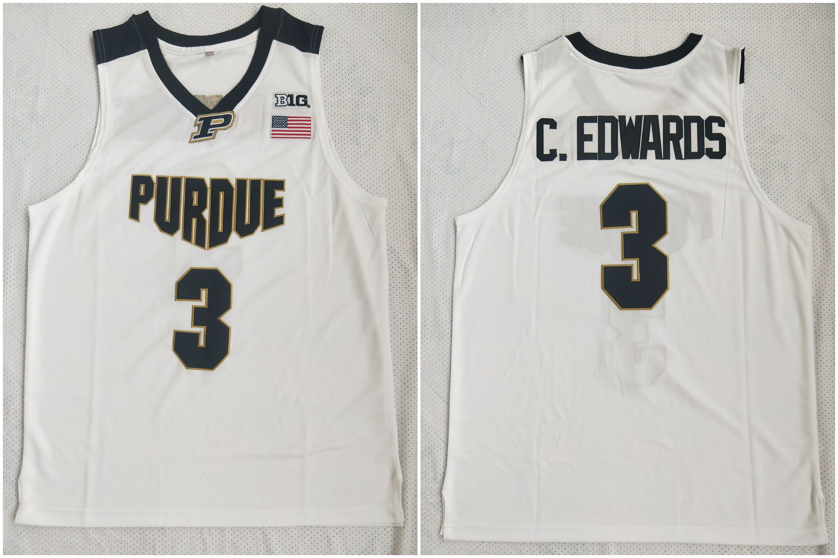 Purdue 3 Carsen Edwards White College Basketball Jersey