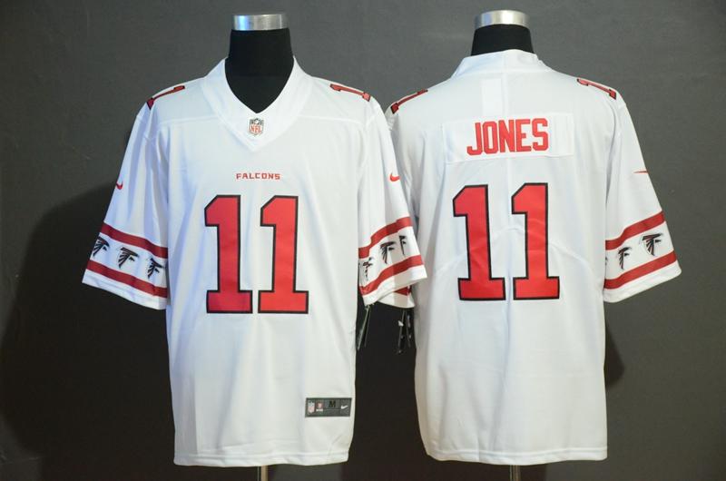 Nike Falcons 11 Julio Jones White Team Logos Fashion Vapor Limited Jersey