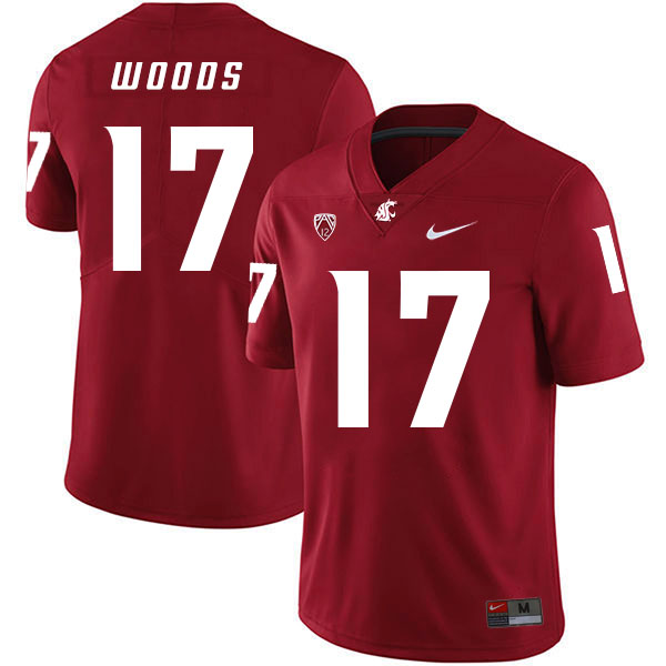 Washington State Cougars 17 Kassidy Woods Red College Football Jersey