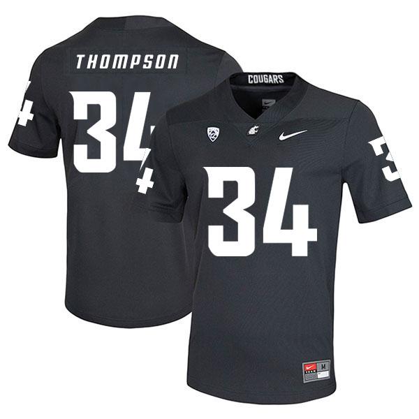 Washington State Cougars 34 Jalen Thompson Black College Football Jersey