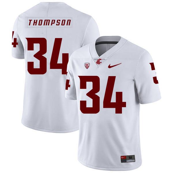 Washington State Cougars 34 Jalen Thompson White College Football Jersey