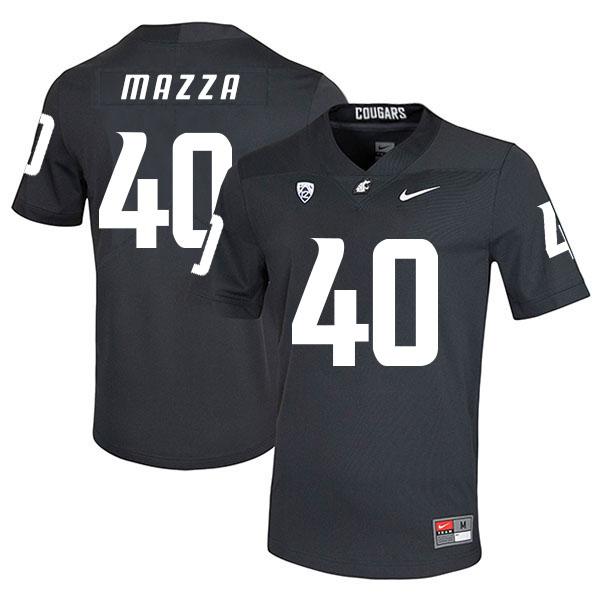 Washington State Cougars 40 Blake Mazza Black College Football Jersey