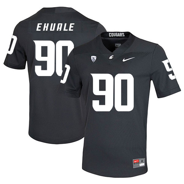 Washington State Cougars 90 Daniel Ekuale Black College Football Jersey