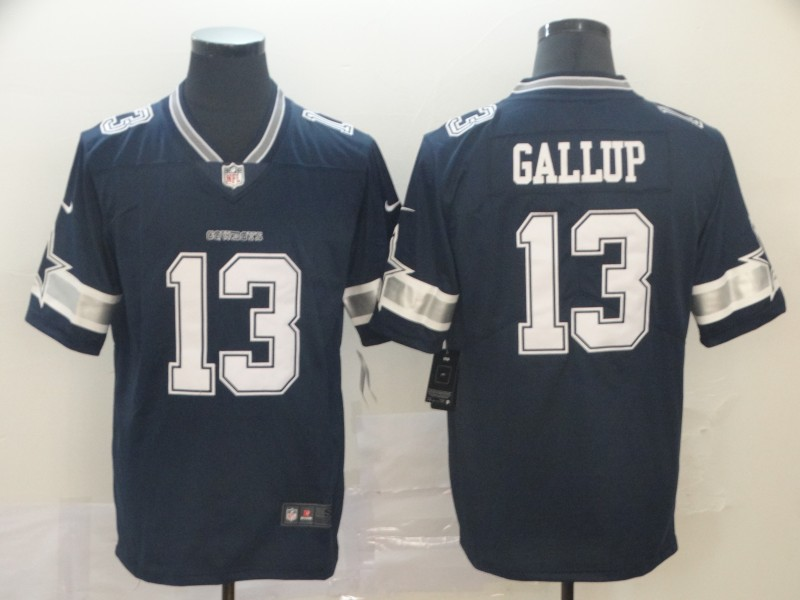 Nike Cowboys 13 Michael Gallup Navy Vapor Untouchable Limited Jersey