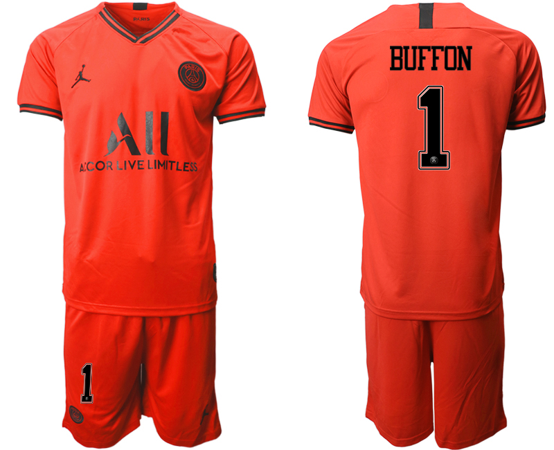 2019-20 Paris Saint-Germain 1 BUFFON Away Soccer Jersey