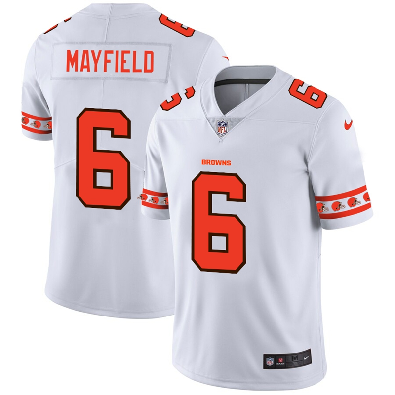 Nike Browns 6 Baker Mayfield White 2019 New Vapor Untouchable Limited Jersey