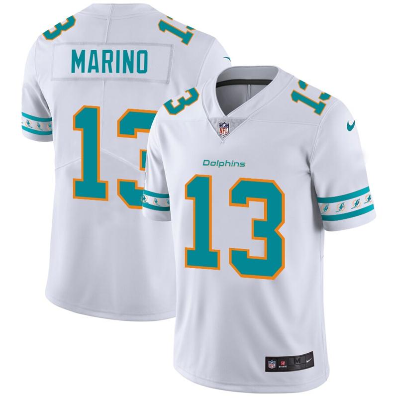 Nike Dolphins 13 Dan Marino White 2019 New Vapor Untouchable Limited Jersey