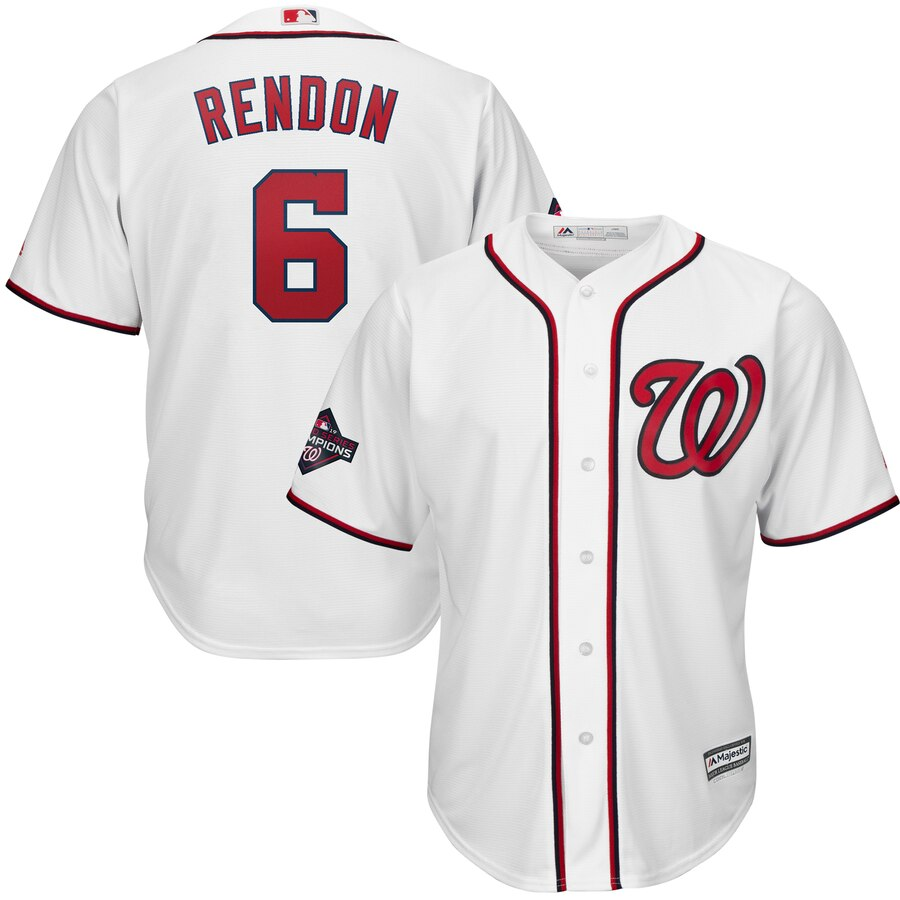 Nationals 6 Anthony Rendon White 2019 World Series Champions Cool Base Jersey