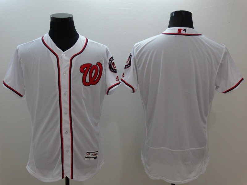 Nationals Blank White Flexbase Jersey