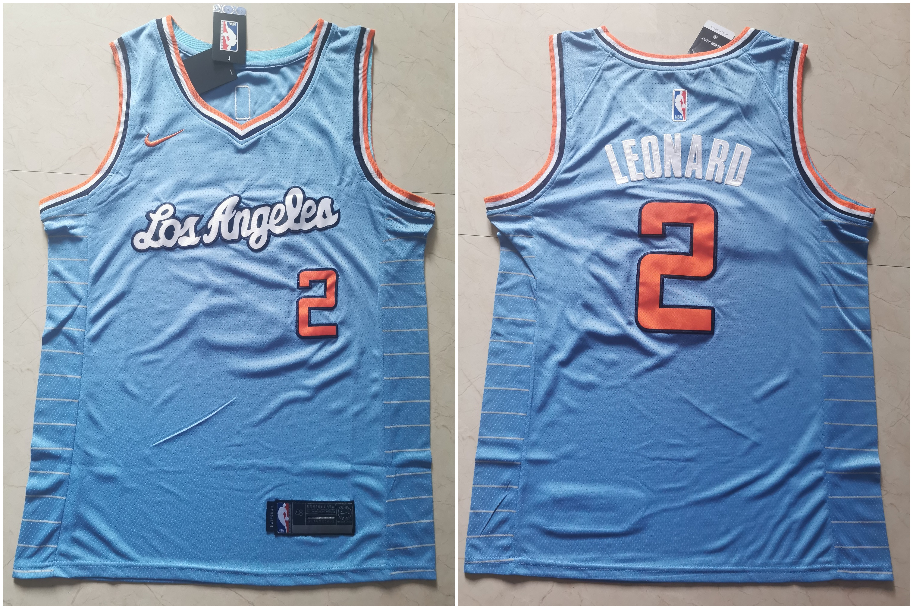 Clippers 2 Kawhi Leonard Light Blue Nike Swingman Jersey
