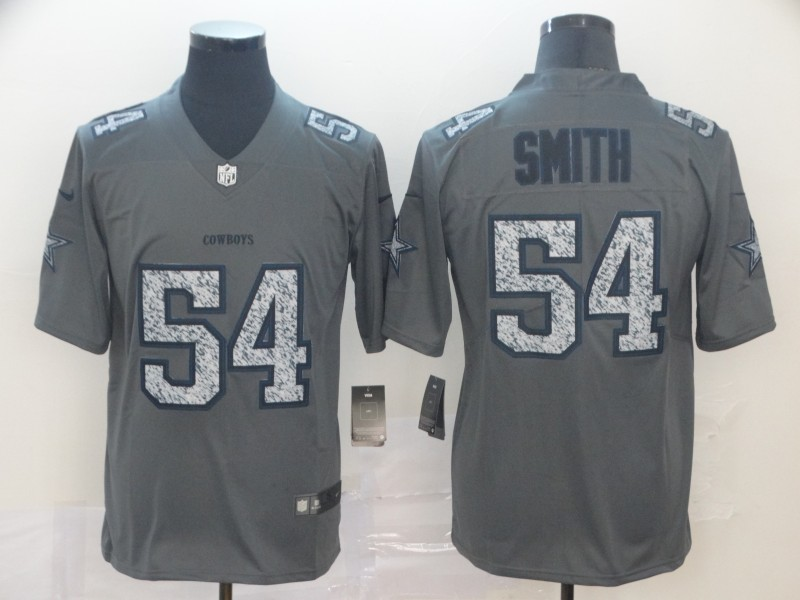 Nike Cowboys 54 Jaylon Smith Gray Camo Vapor Untouchable Limited Jersey