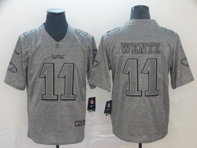 Nike Eagles 11 Carson Wentz Gray Gridiron Gray Vapor Untouchable Limited Jersey