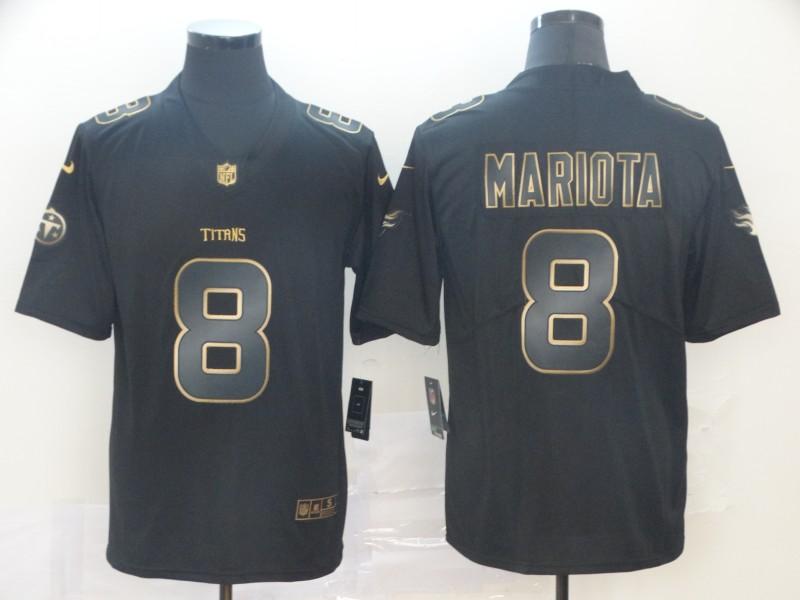 Nike Titans 8 Marcus Mariota Black Gold Vapor Untouchable Limited Jersey