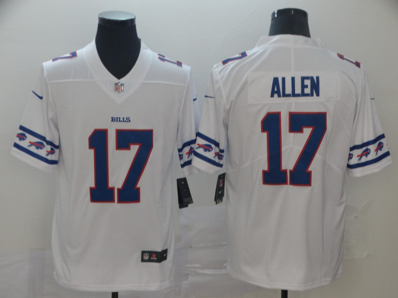 Nike Bills 17 Josh Allen White Team Logos Fashion Vapor Limited Jersey