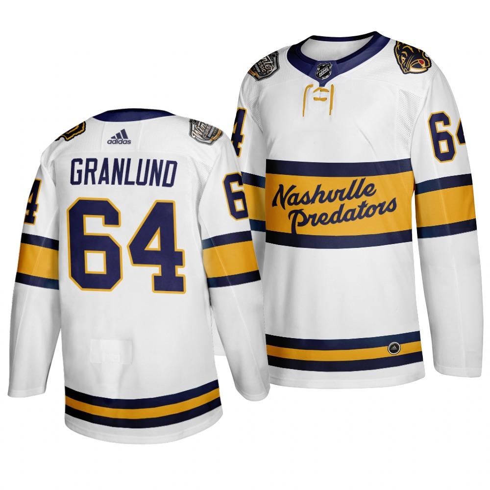 Predators 64 Mikael Granlund White 2020 Winter Classic Adidas Jersey