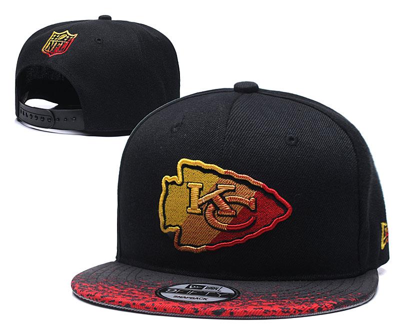 Chiefs Team Logo Black Adjustable Hat YD