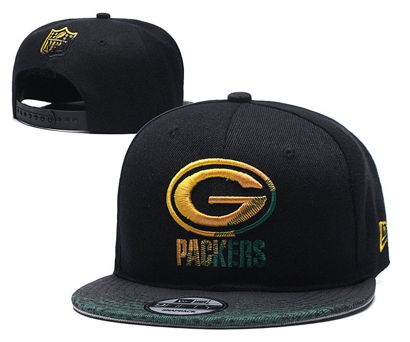 Packers Team Logo Black Adjustable Hat YD
