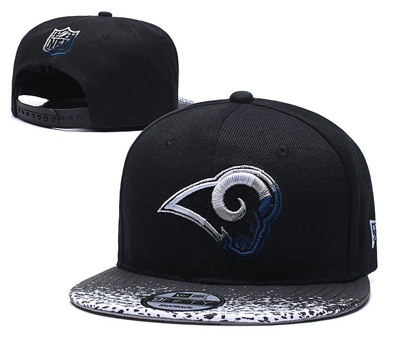 Rams Team Logo Black Adjustable Hat YD