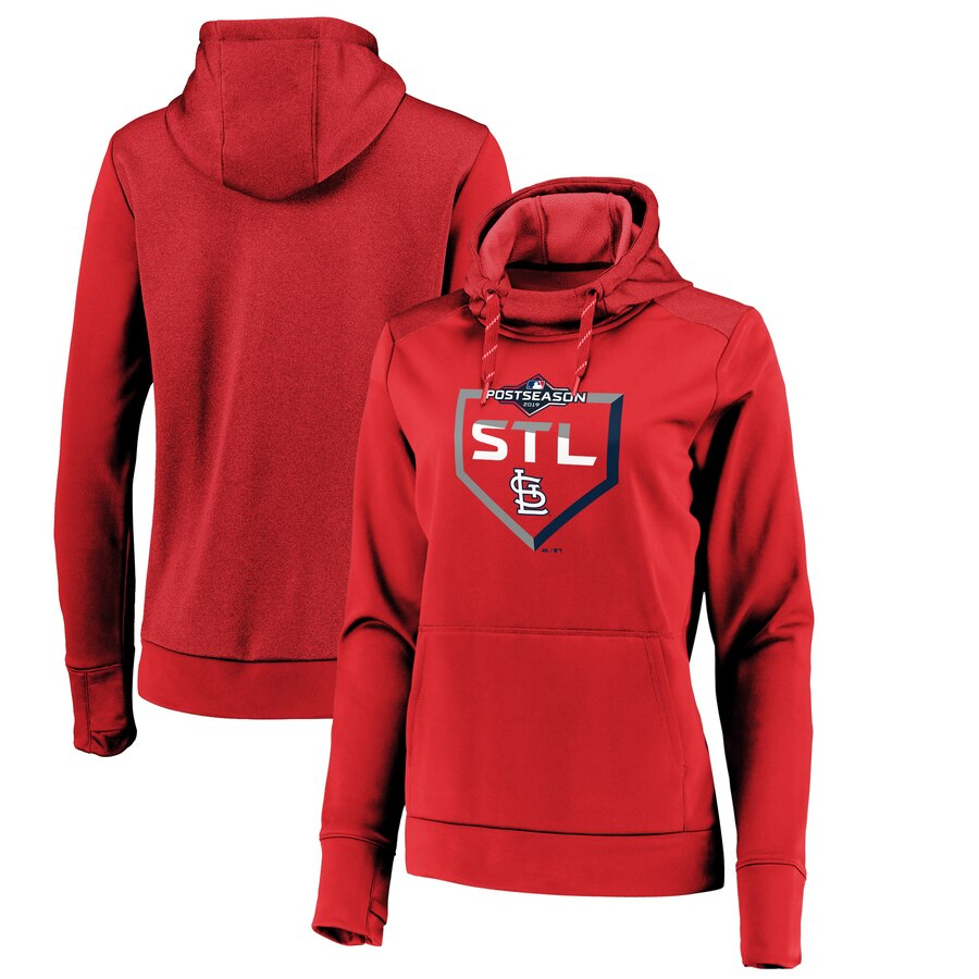 St. Louis Cardinals Majestic Women's 2019 Postseason Dugout Authentic Pullover Hoodie Red