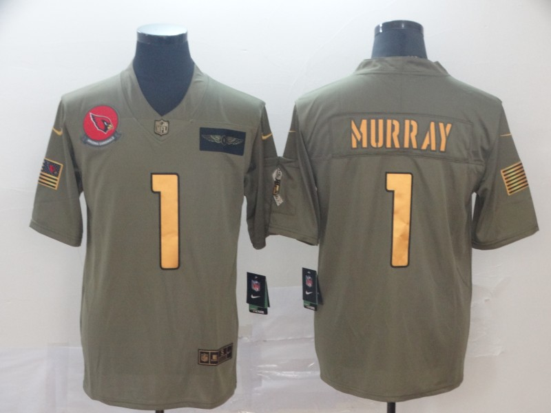 Nike Cardinals 1 Kyler Murray 2019 Olive Gold Salute To Service Limited Jersey