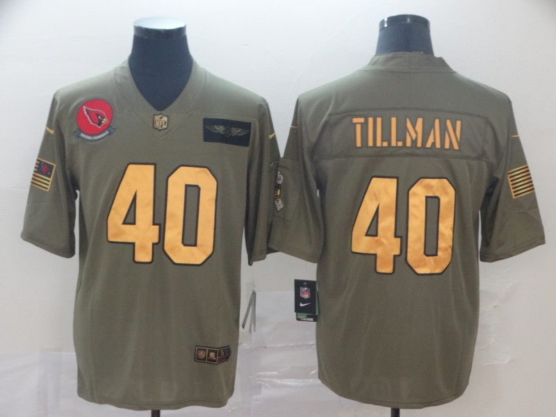 Nike Cardinals 40 Pat Tillman 2019 Olive Gold Salute To Service Limited Jersey