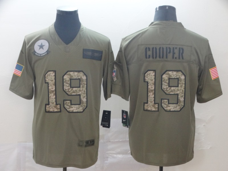 Nike Cowboys 19 Amari Cooper 2019 Olive Camo Salute To Service Limited Jersey