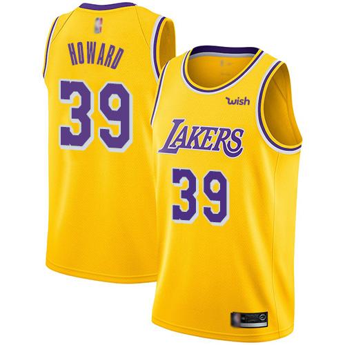 Lakers 39 Dwight Howard Yellow Nike Swingman Jersey