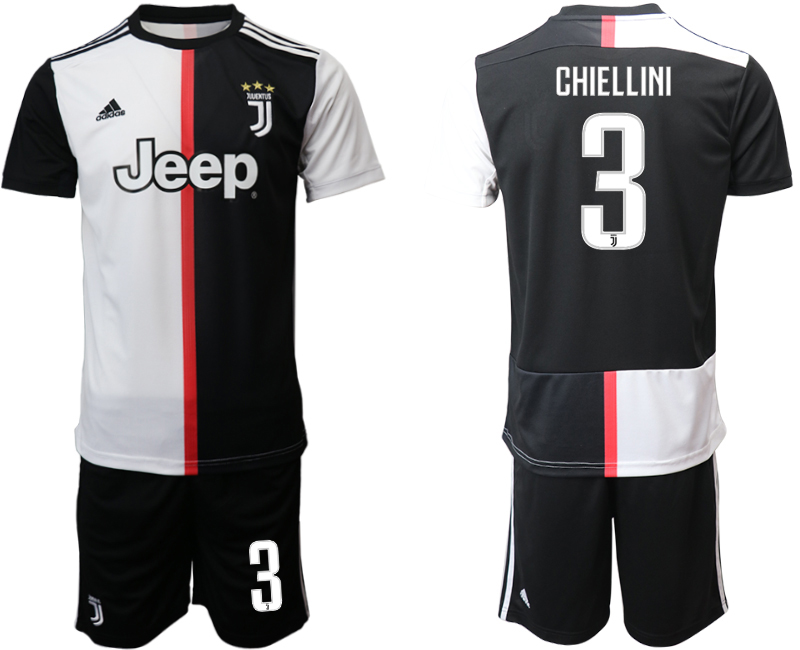 2019-20 Juventus FC 3 CHIELLINI Home Soccer Jersey