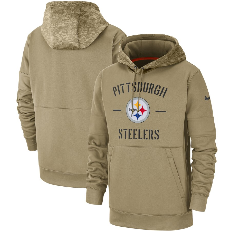 Pittsburgh Steelers 2019 Salute To Service Sideline Therma Pullover Hoodie