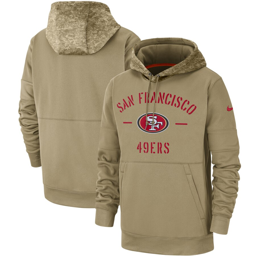 San Francisco 49ers 2019 Salute To Service Sideline Therma Pullover Hoodie