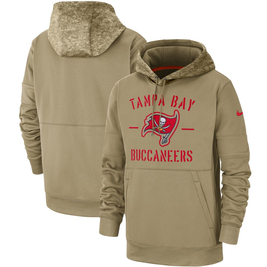 Tampa Bay Buccaneers 2019 Salute To Service Sideline Therma Pullover Hoodie