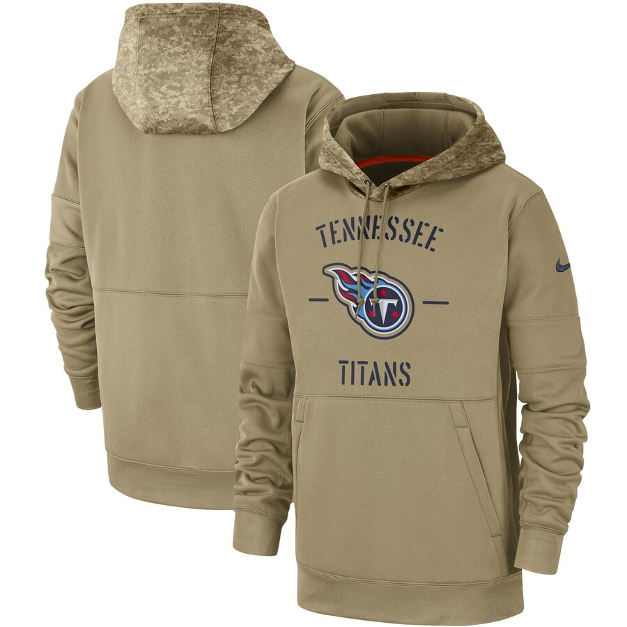 Tennessee Titans 2019 Salute To Service Sideline Therma Pullover Hoodie