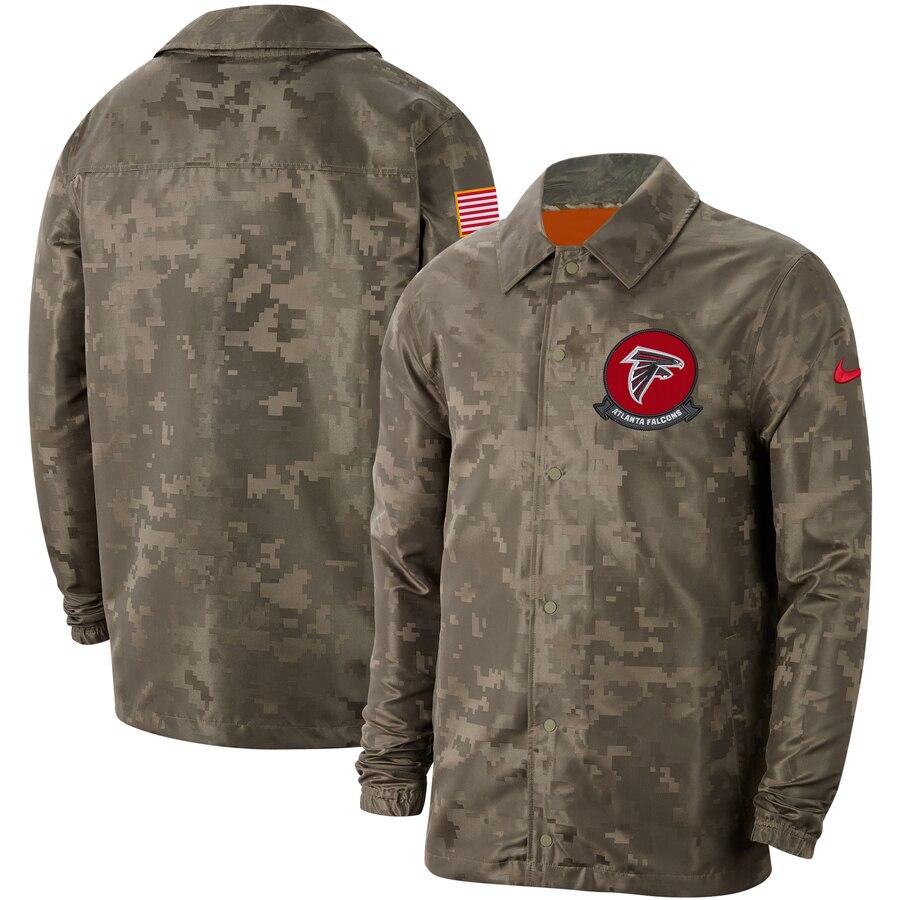 Men's Atlanta Falcons Nike Camo 2019 Salute to Service Sideline Full Zip Lightweight Jacket
