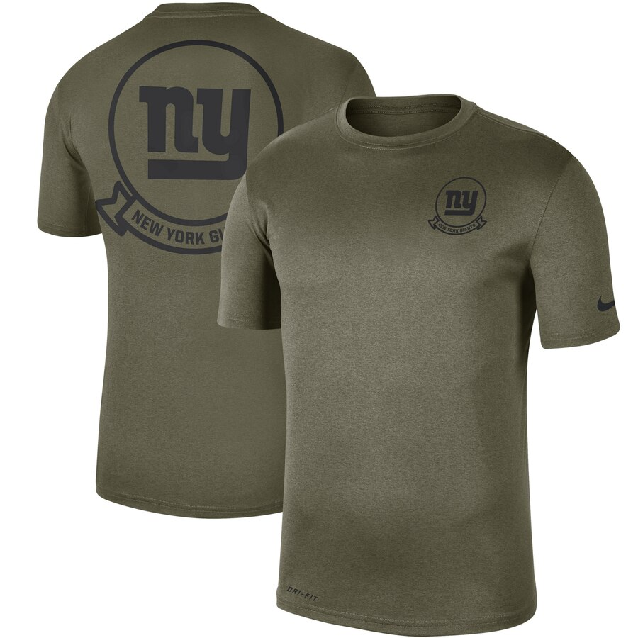 Men's New York Giants Nike Olive 2019 Salute to Service Sideline Seal Legend Performance T-Shirt