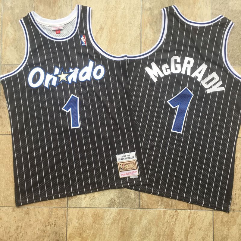 Magic 1 Tracy McGrady Black 2003-04 Hardwood Classics Swingman Jersey