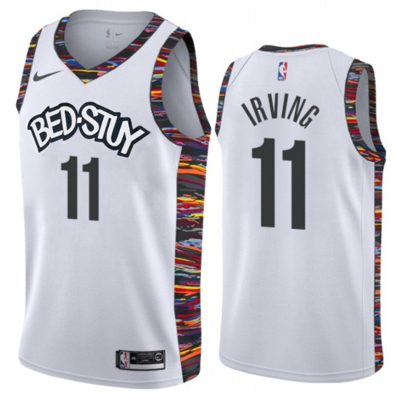 Nets 11 Kyrie Irving White 2019-20 City Edition Nike Swingman Jersey