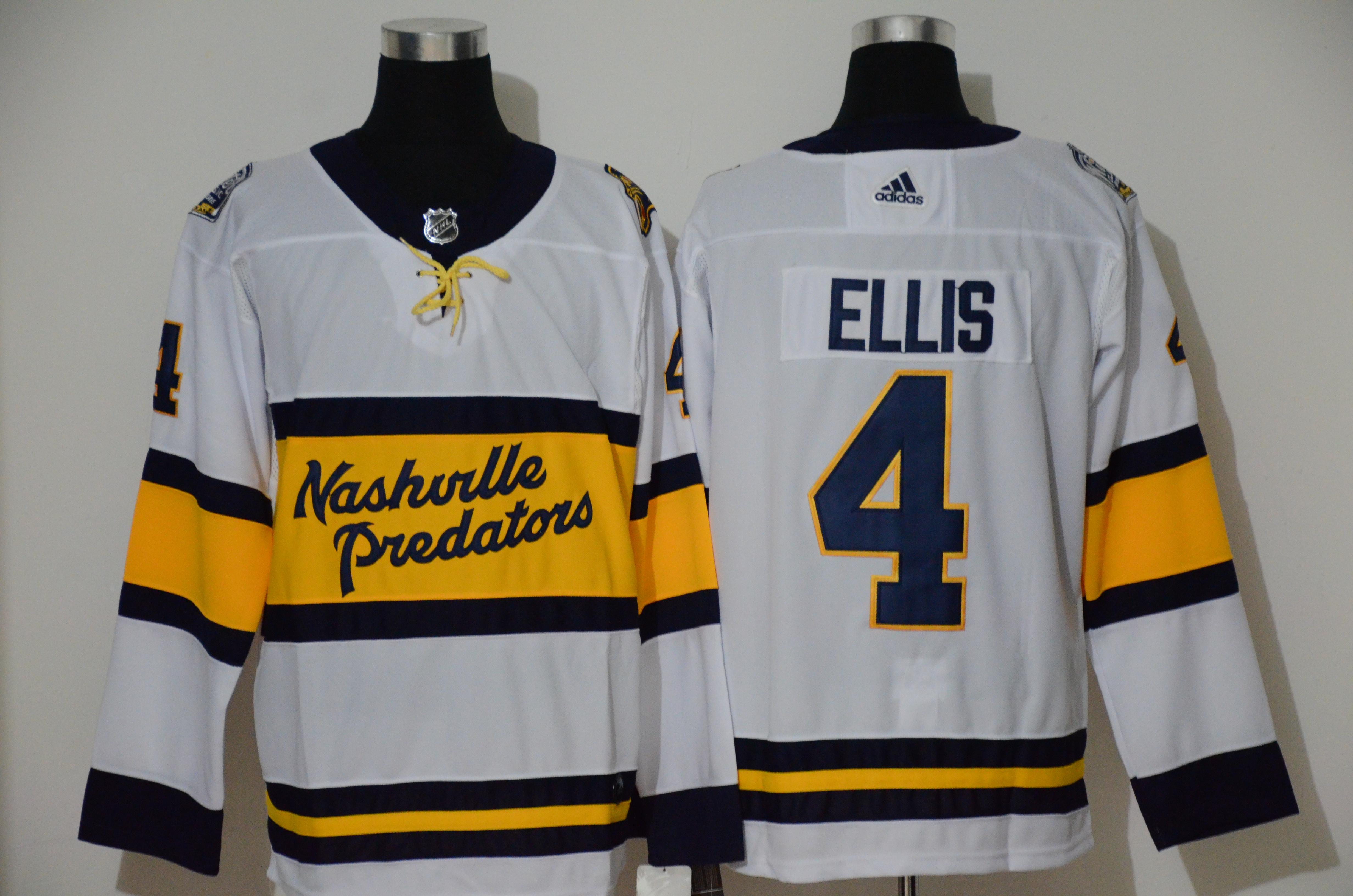 Predators 4 Ryan Ellis White 2020 Winter Classic Adidas Jersey