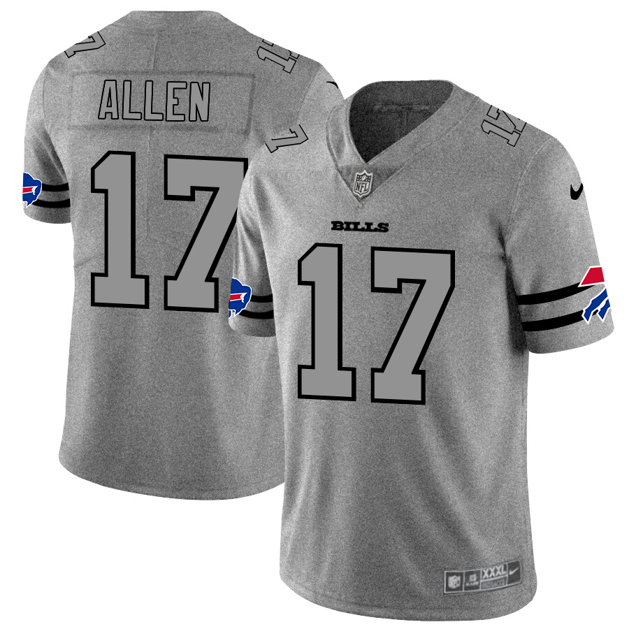 Nike Bills 17 Josh Allen 2019 Gray Gridiron Gray Vapor Untouchable Limited Jersey