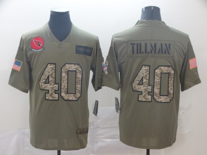 Nike Cardinals 40 Pat Tillman 2019 Olive Camo Salute To Service Limited Jersey